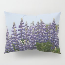 Lupine Flowers Photography Print Pillow Sham