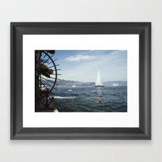 portofino harbour Framed Art Print