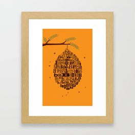 B Hive Framed Art Print