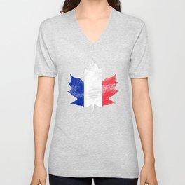 France/Canada Unisex V-Neck