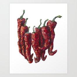 Hot Chili Art Print