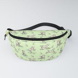 Little Sheep jumping in the meadow Fanny Pack