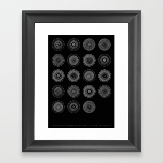 Demi-Stock (Black Poster) Framed Art Print