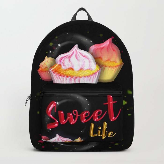 Watercolor yummy cake Backpack