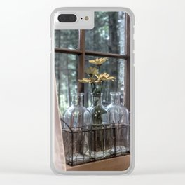 Bottled Flowers Clear iPhone Case
