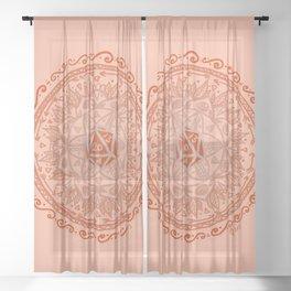 d20 Mandala Sheer Curtain