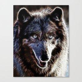 Magical Dark Wolf Canvas Print