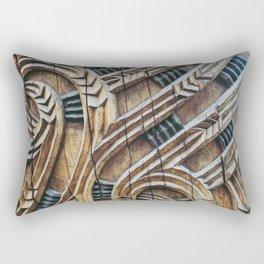 A Maori Carving Rectangular Pillow
