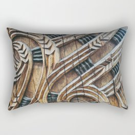 A Maori Carving Rectangular Pillow