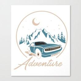 Adventure Retro Car Canvas Print