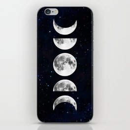 Phases of the Moon Galaxy iPhone Skin