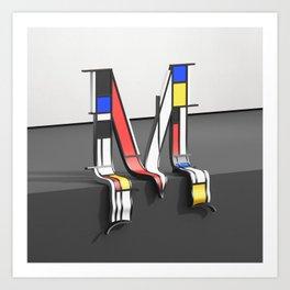 Surreal Letter M Art Print