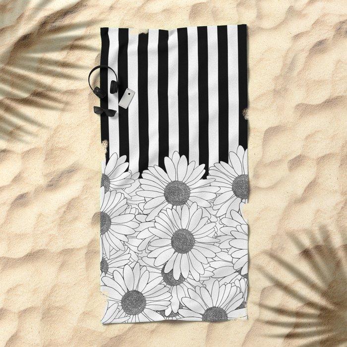 Daisy Stripe Beach Towel
