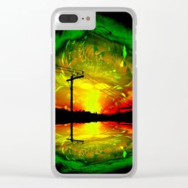 Night Eye Clear iPhone Case