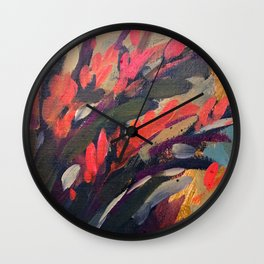Vibrant Flower Abstract Wall Clock