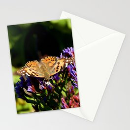 Painted Lady on Statice Blooms Stationery Cards
