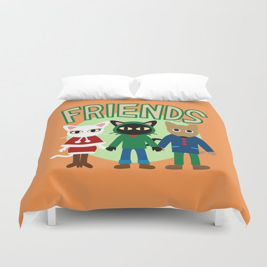 Whim's Friends Duvet Cover