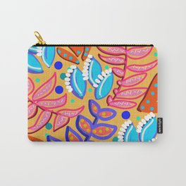 Whimsical Leaves Pattern Carry-All Pouch