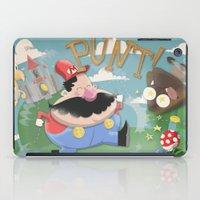 mario iPad Cases featuring Mario by Olly Blake