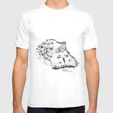 Hippo Mens Fitted Tee White MEDIUM