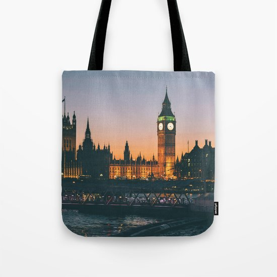London during Sunset on the Water Tote Bag