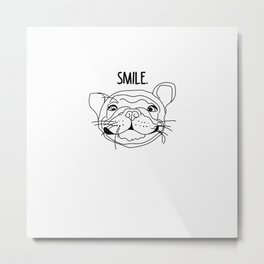 Smile - Frenchie Metal Print