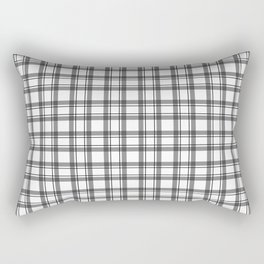 Black and white checkered pattern 2 Rectangular Pillow