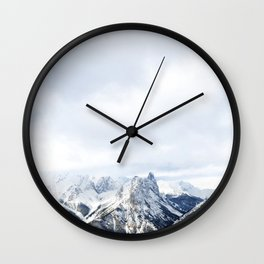 Looking out over the Rockies, in Banff Wall Clock