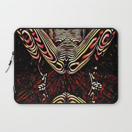 8755-KMA Submissive Woman on Mirror Presents Her Naked Body Zebra Striped Abstract Laptop Sleeve