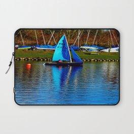Little Blue Sailboat  Laptop Sleeve