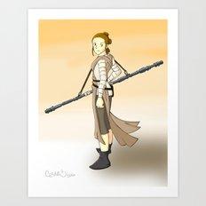Rey x Miyazaki Art Print