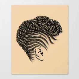 Crown: Braided Updo Canvas Print