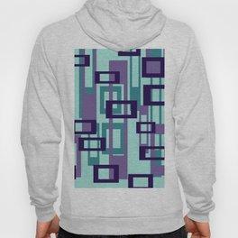 Geometric rectangles pattern violet Hoody