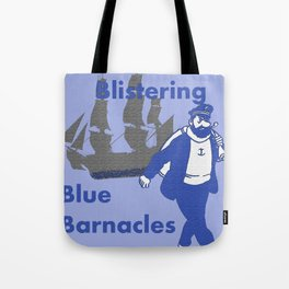 Blue Barnacles Tote Bag