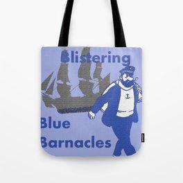 Blue Barnacles Tote Bag
