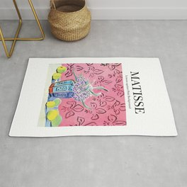 Matisse - Lemons against Pink Background Rug