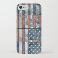 american flag iPhone & iPod Cases featuring American flag by Bekim ART