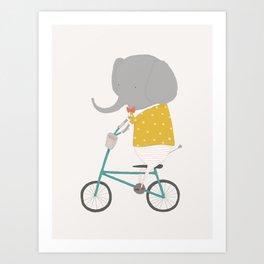 Emerson Rides Art Print