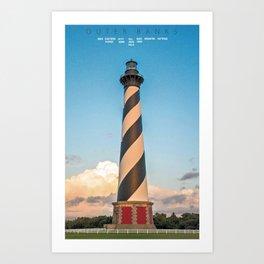 Cape Hatteras Light - Outer Banks - North Carolina. Art Print
