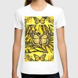 GOLDEN YELLOW MONARCH BUTTERFLIES MELODY T-shirt