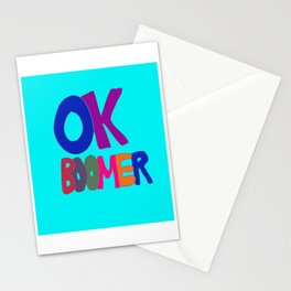 OK BOOMER in 1960s colors Stationery Cards