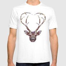 My Deer Love, MEDIUM Mens Fitted Tee White