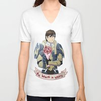 fire emblem V-neck T-shirts featuring Fire Emblem Awakening: Frederick Romance by firesonic152