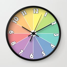 Colour Clock Wall Clock