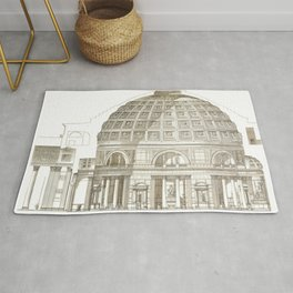 Pantheon Of Rome Rug