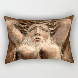 """William Blake """"The First Book of Urizen, Plate 21 (Bently 16)"""" Rectangular Pillow"""