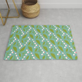 summer on my balcony mint: 70th Lifestyle pattern Rug