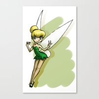 tinker bell Canvas Prints featuring Tinker by Sabina  Daldovo