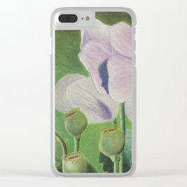 The Field School for Fashionable Poppies Clear iPhone Case