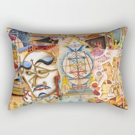 Xul Solar collage Rectangular Pillow